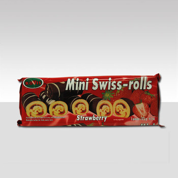 MINI SWISS ROLL CHOCO aardbei