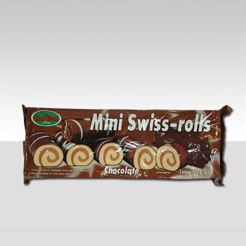 MINI SWISS ROLL CHOCO chocolade