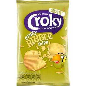 Croky Crazy Ribble pepper and salt 40g