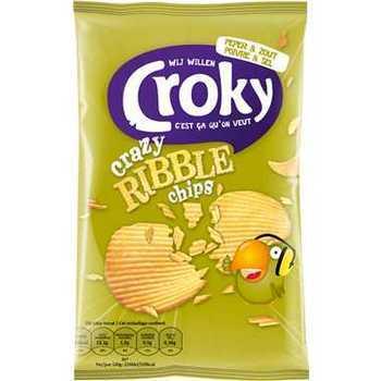 Croky Crazy Ribble sel et poivre 40g
