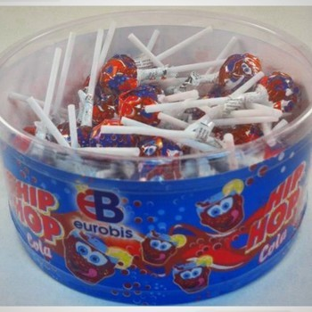 Lollipops Hip Hop cola 400g